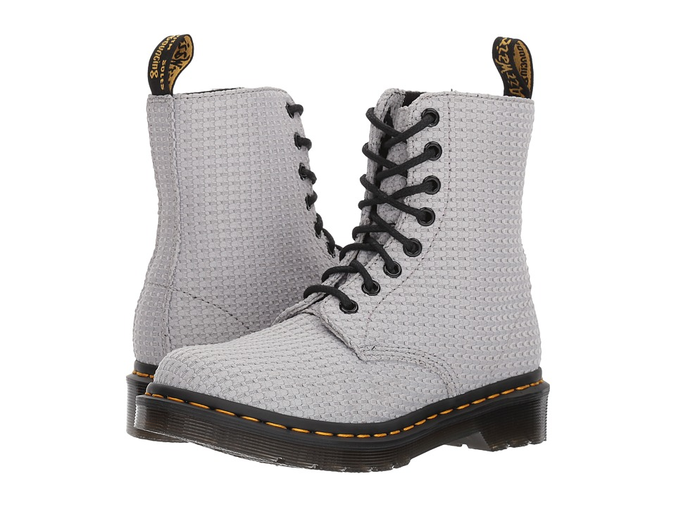 Dr. Martens Page WC Padded Collar Boot (Mid Grey Waffle Cotton) Women