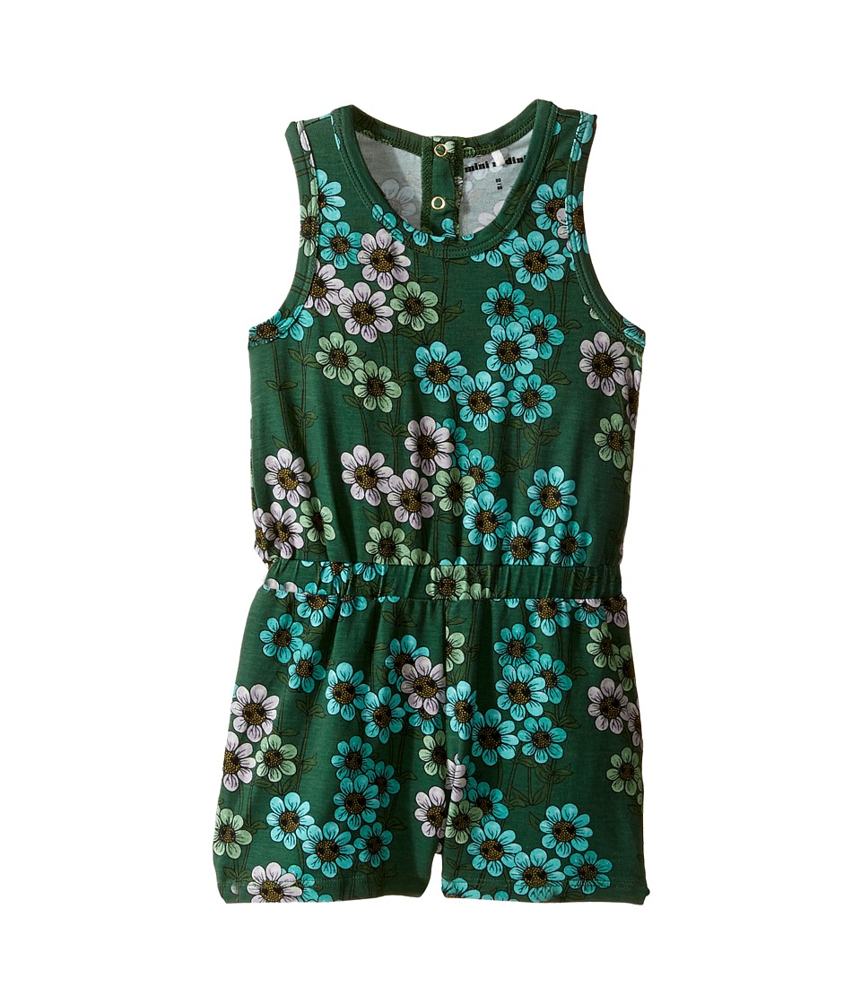 mini rodini - Daisy Summersuit (Infant/Toddler/Little Kids/Big Kids) (Dark Green) Girl's Jumpsuit & Rompers One Piece