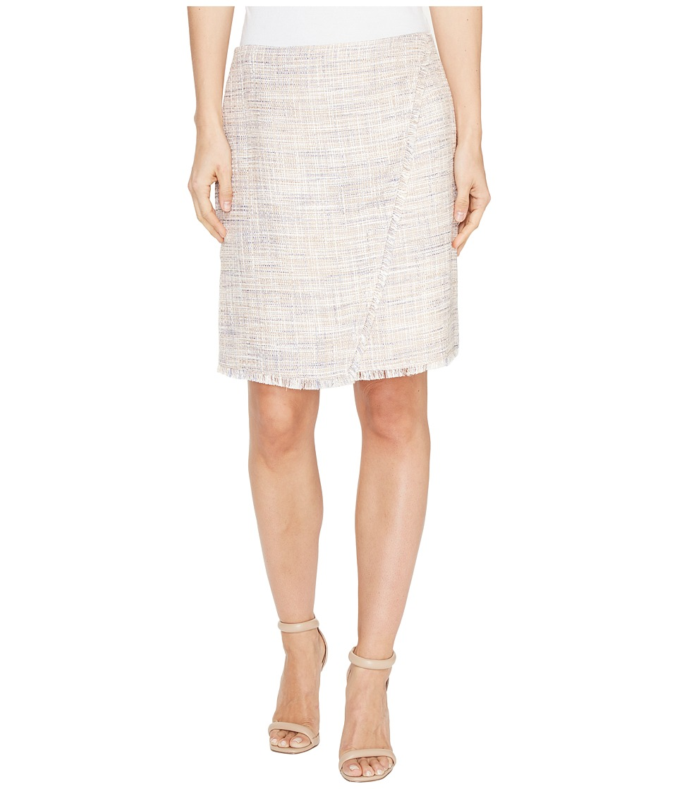 Ivanka Trump - Tweed Skirt (Beige/Blue) Women's Skirt
