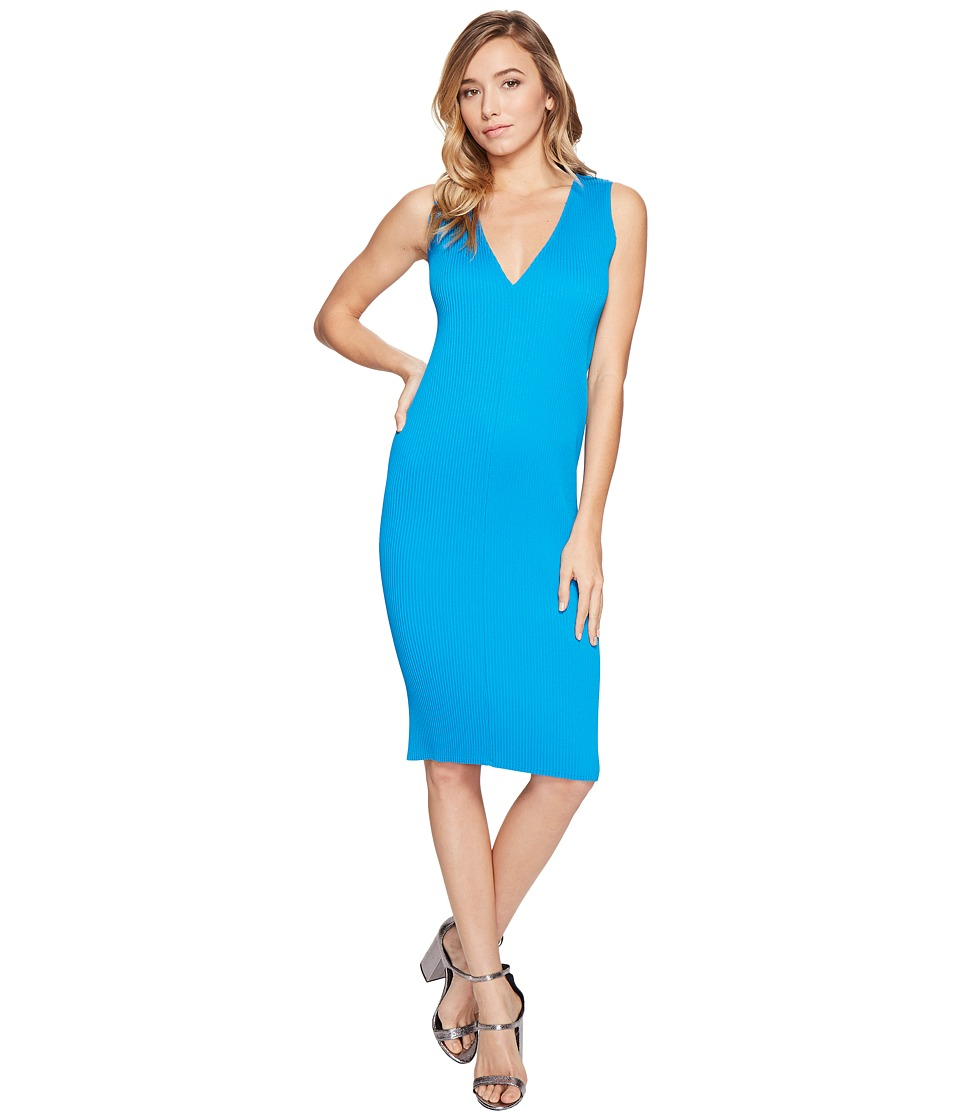 Kitty Joseph - V-Neck Dress (Blue) Women's Dress