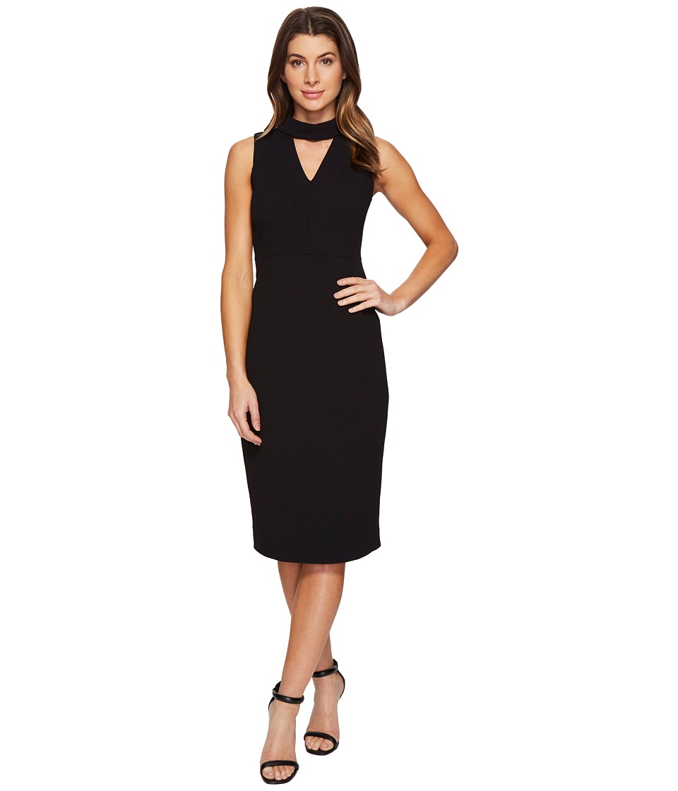 Ivanka Trump - Midi Scuba Crepe Dress (Black) Women's Dress