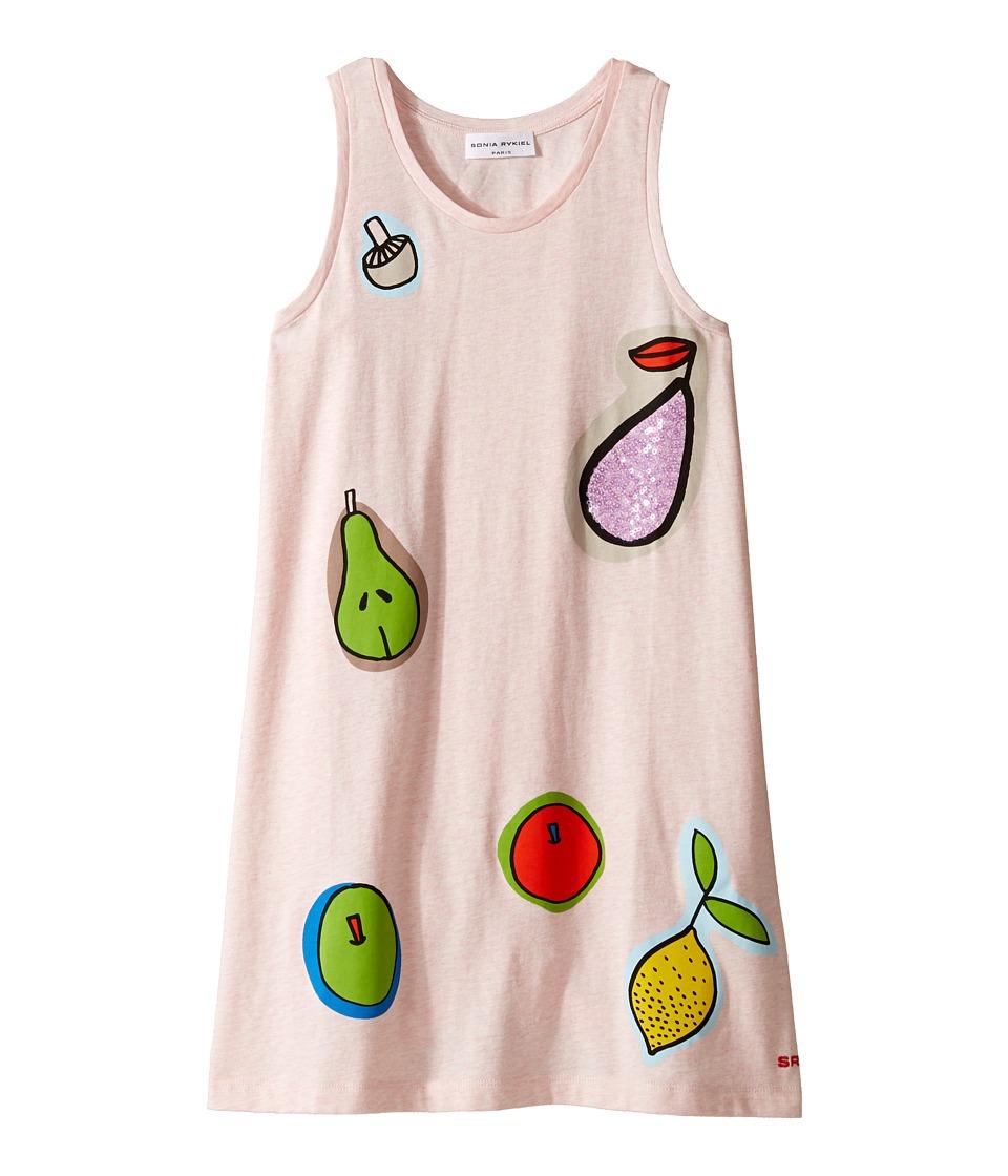 Sonia Rykiel Kids - Sleeveless Dress w/ Fruit Design On Front (Big Kids) (Pink) Girl's Dress