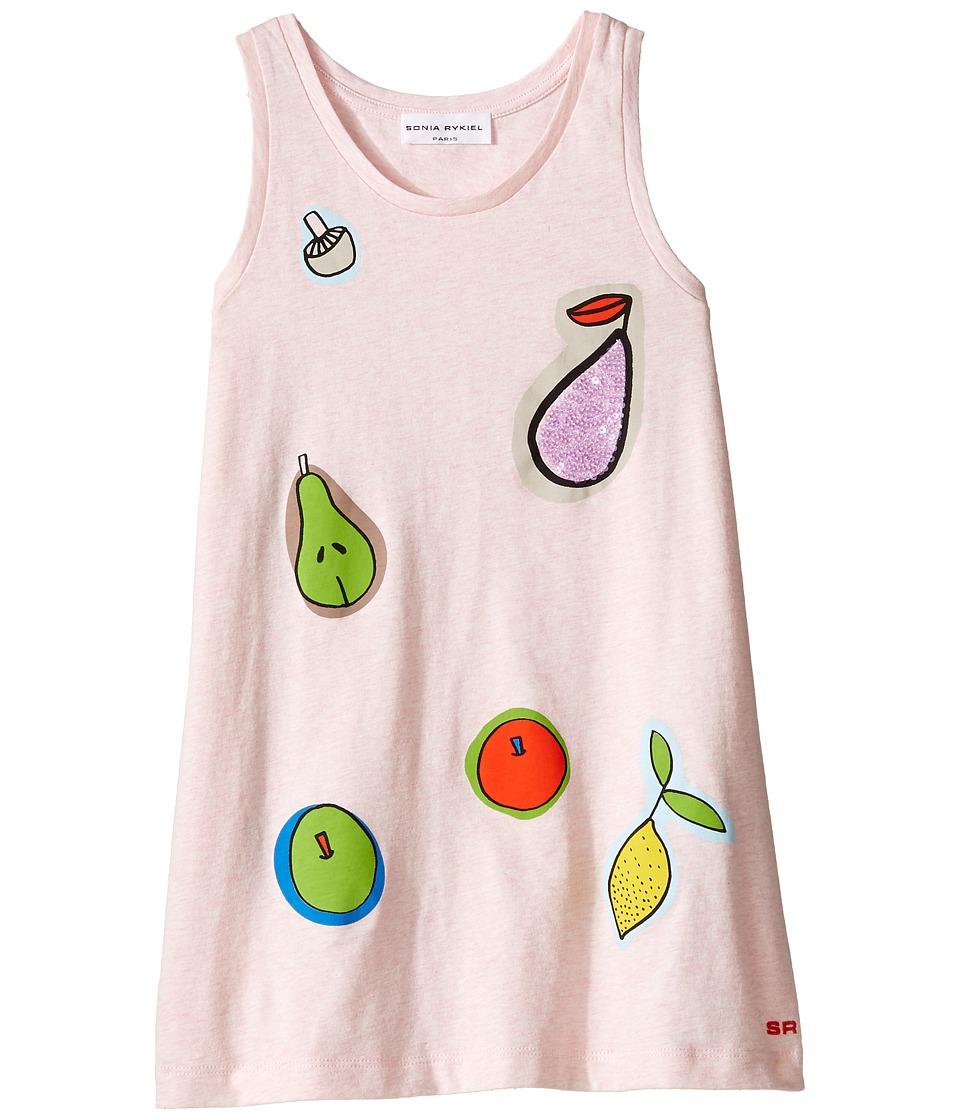 Sonia Rykiel Kids - Sleeveless Dress w/ Fruit Design On Front (Toddler/Little Kids) (Pink) Girl's Dress