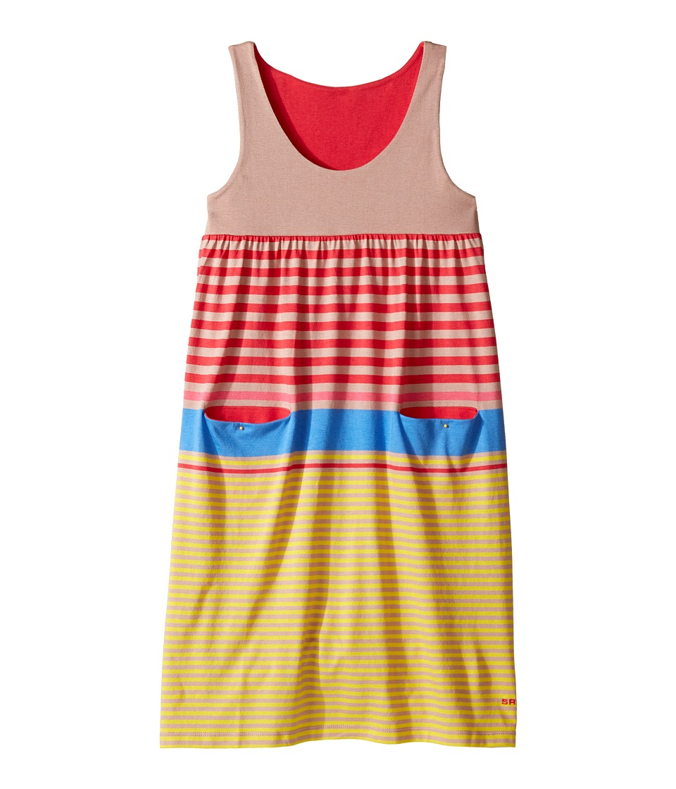 Sonia Rykiel Kids - Sleeveless Striped Dress w/ Pom Pom Detail (Big Kids) (Multi) Girl's Dress