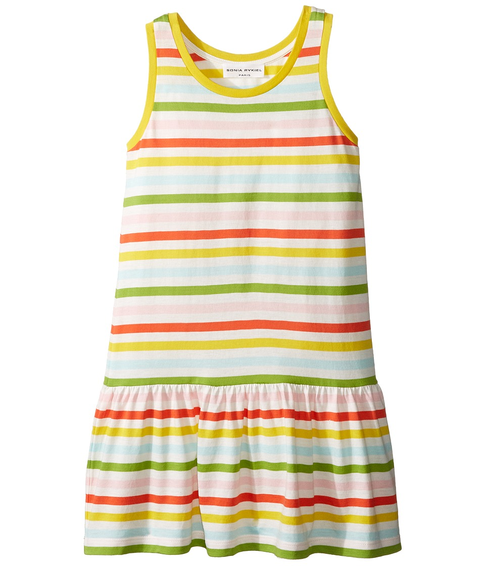 Sonia Rykiel Kids - Sleeveless Striped Dress (Big Kids) (Multi/White) Girl's Dress