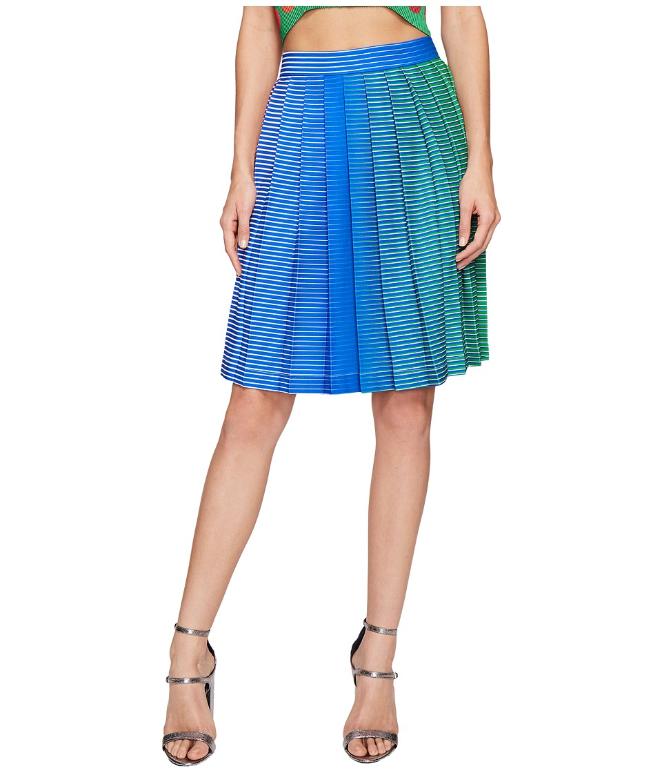 Kitty Joseph - Iridescent Pleated Skirt (Parrot) Women's Skirt