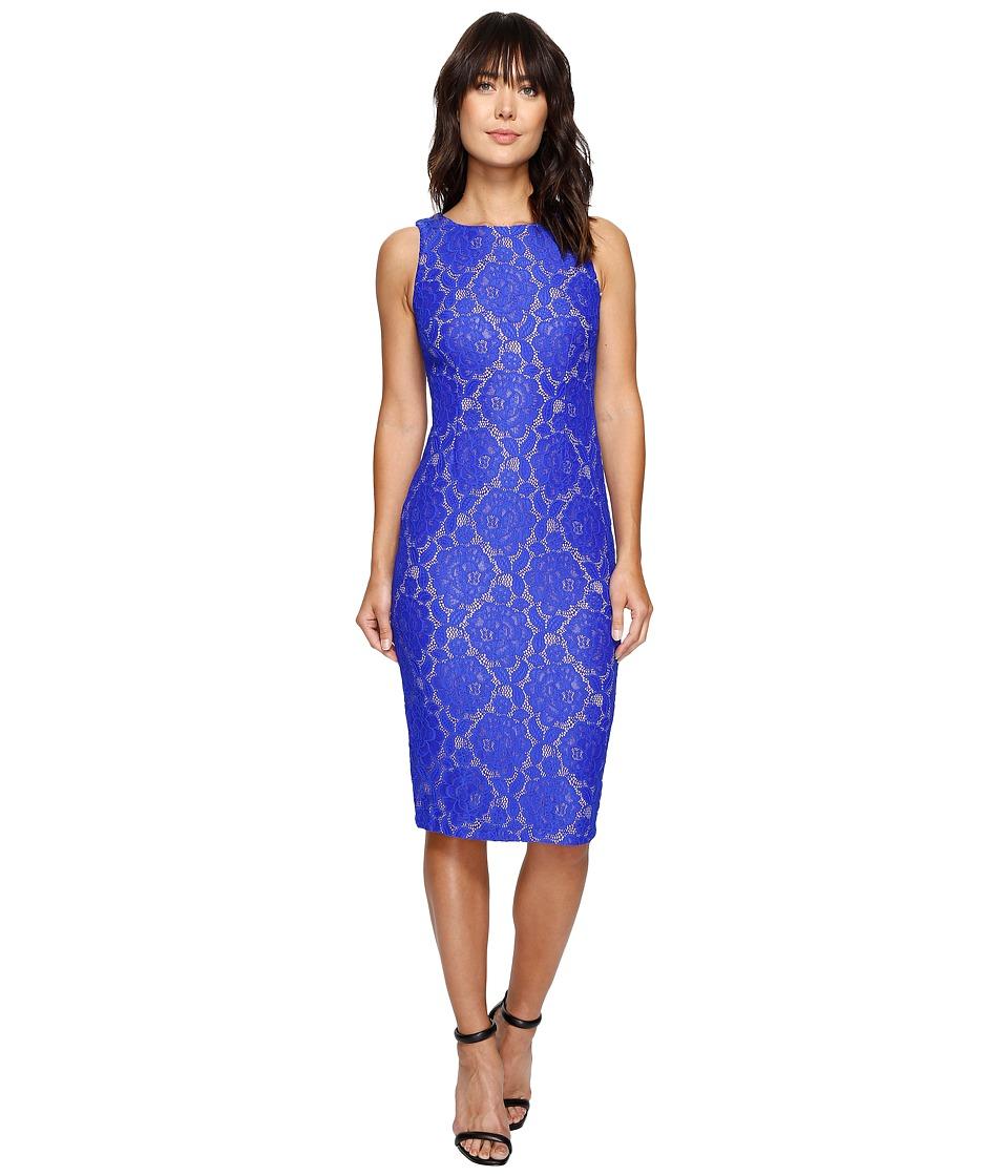 Ivanka Trump - Lace Woven Dress (Sea Blue) Women's Dress