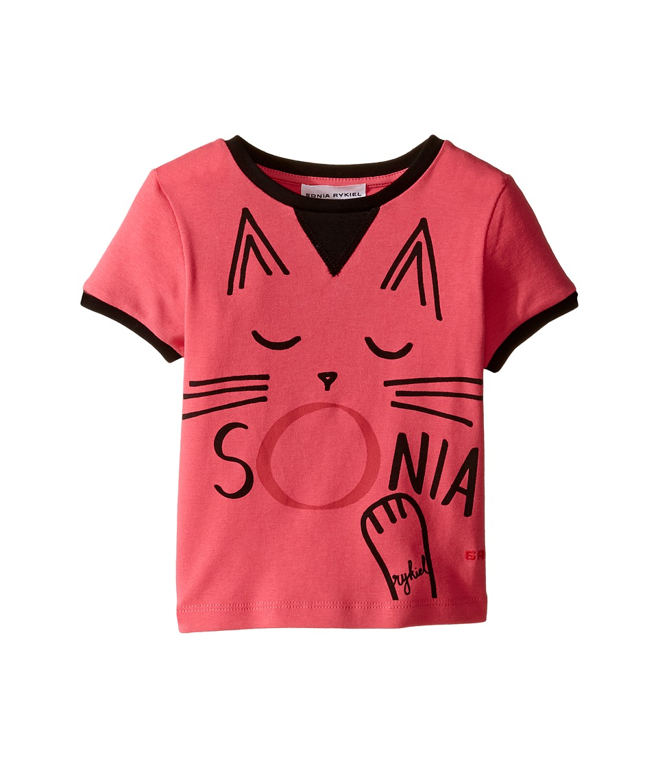 Sonia Rykiel Kids - Short Sleeve Cat Graphic T-Shirt (Toddler/Little Kids) (Fuchsia) Girl's T Shirt