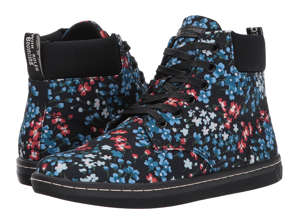 Dr. Martens Maelly Padded Collar Boot (Kelly Floral T Canvas) Women