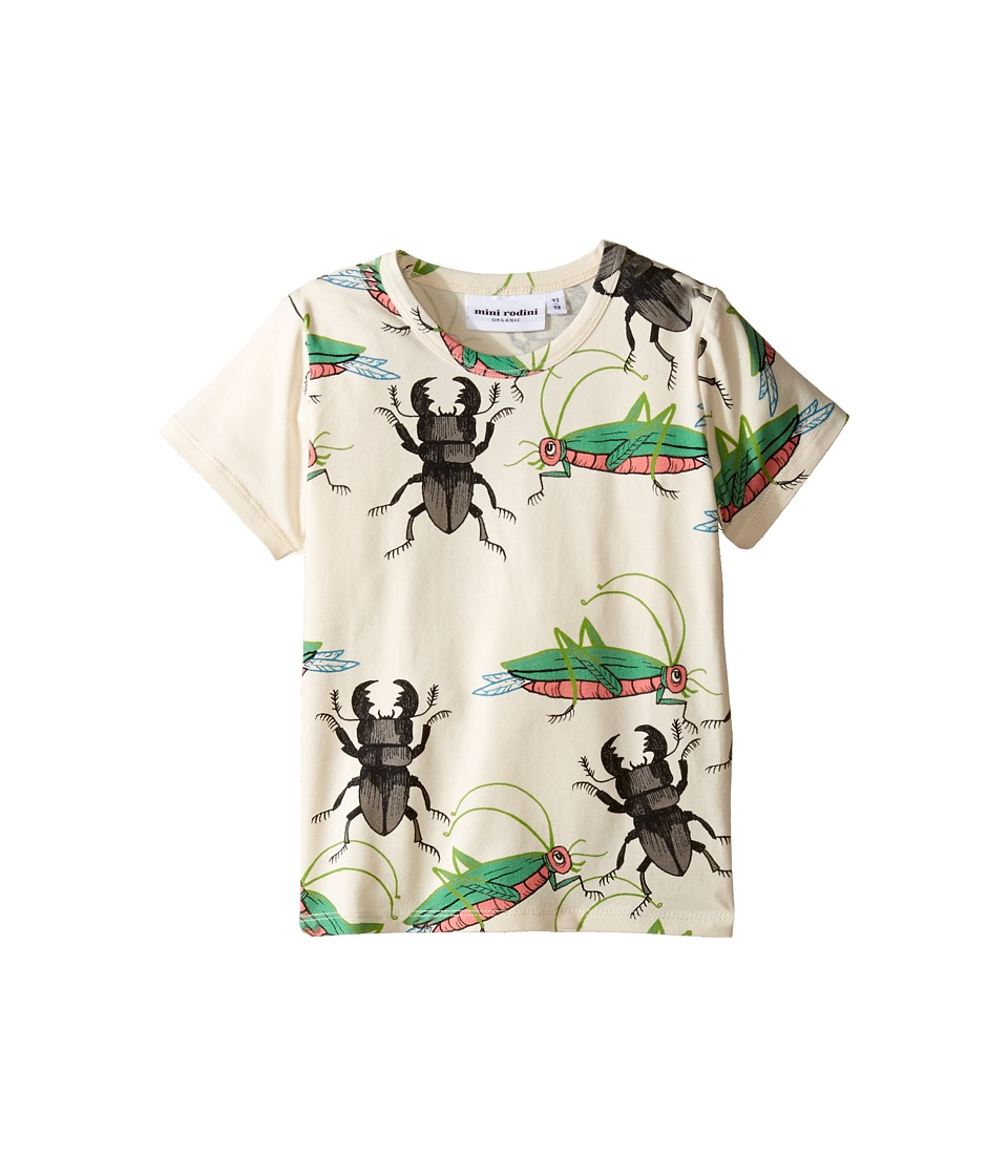 mini rodini - Insects Short Sleeve Tee (Infant/Toddler/Little Kids/Big Kids) (Off-White) Boy's T Shirt