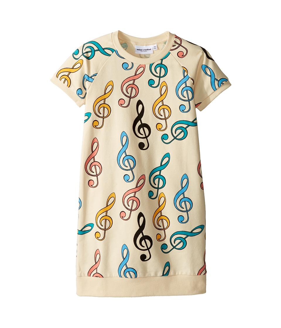 mini rodini - Clef Sweat Dress (Infant/Toddler/Little Kids/Big Kids) (Off-White) Girl's Dress