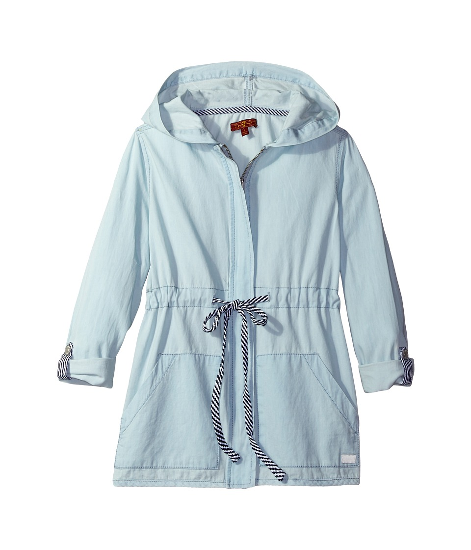 7 For All Mankind Kids - Chambray Jacket (Big Kids) (Festival) Girl's Coat