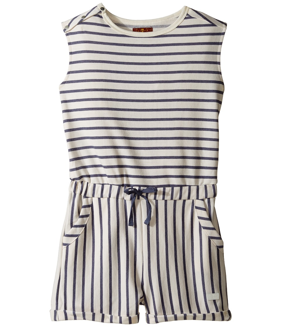 7 For All Mankind Kids - Romper in Night Stripe (Big Kids) (Night Stripe) Girl's Jumpsuit & Rompers One Piece