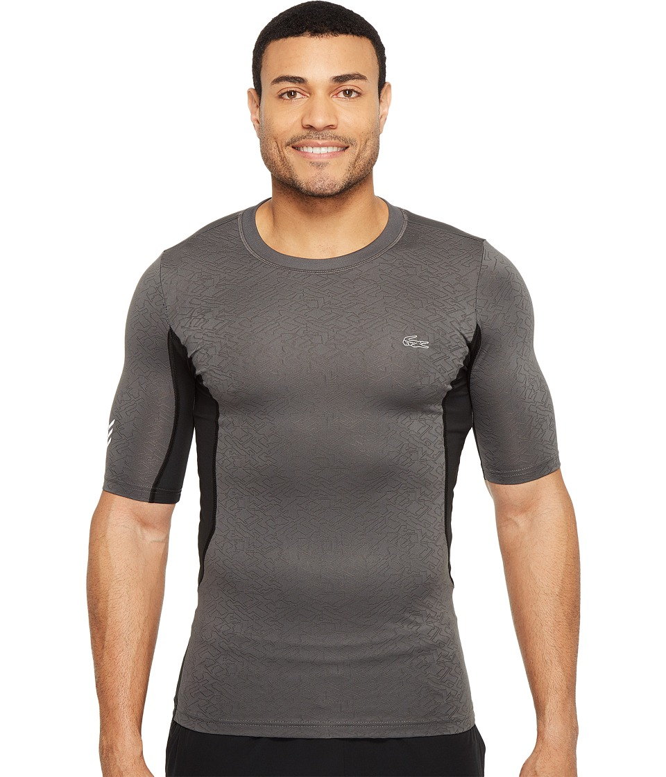 Lacoste - Performance Compression Tee (Black/Charcoal Grey/France) Men's T Shirt