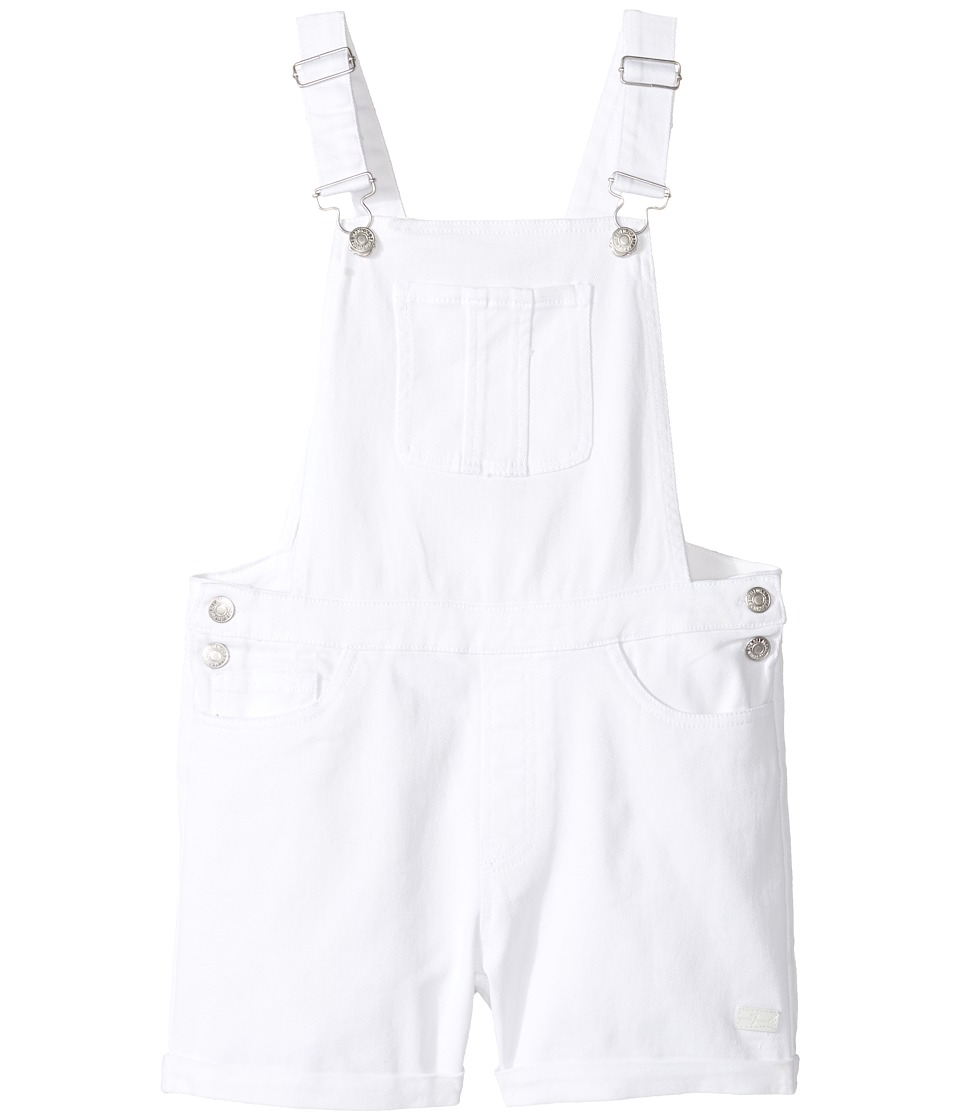 7 For All Mankind Kids - Jumper in White Denim (Big Kids) (White Denim) Girl's Jumpsuit & Rompers One Piece