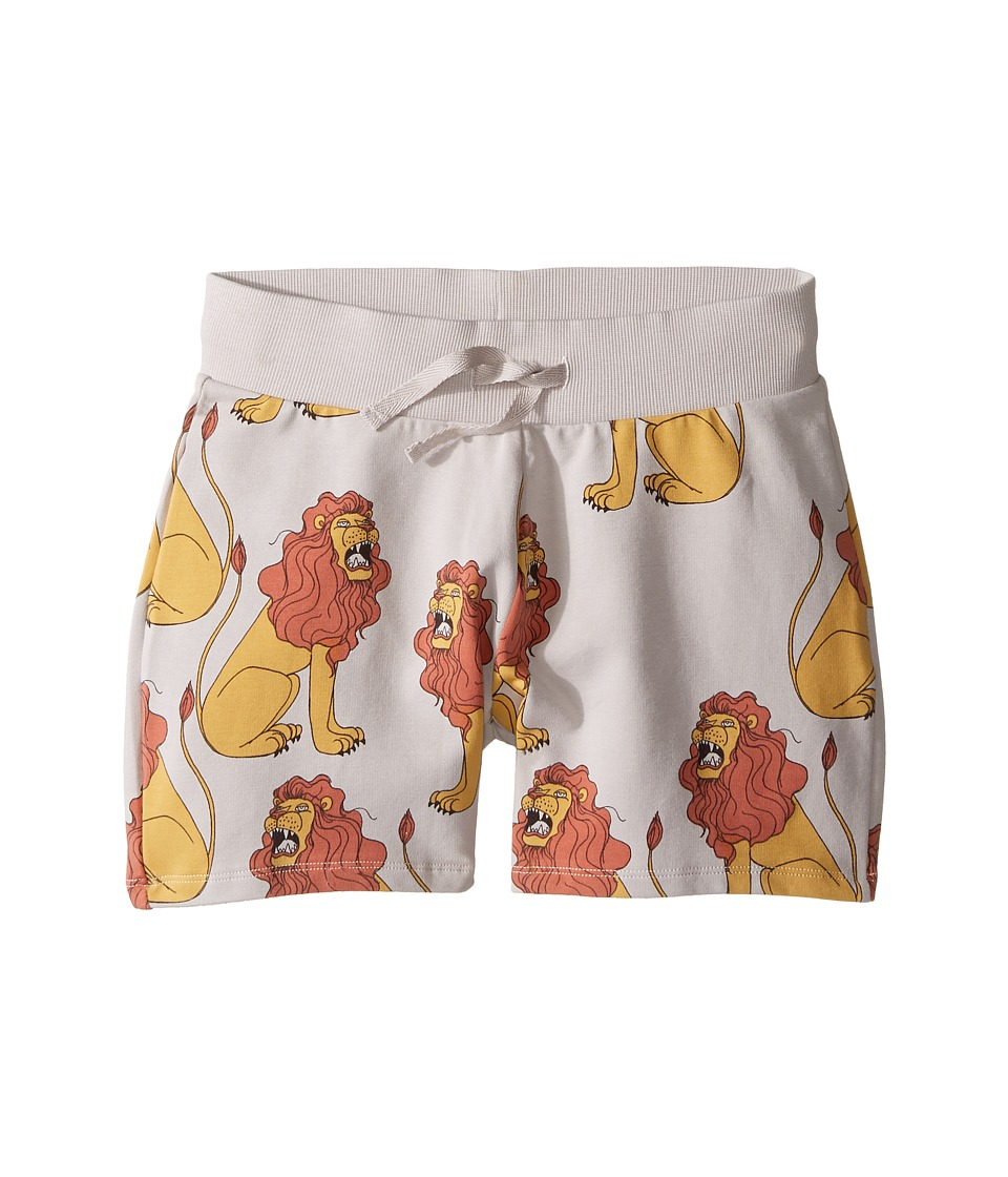 mini rodini - Lion Sweatshorts (Infant/Toddler/Little Kids/Big Kids) (Light Grey) Boy's Shorts