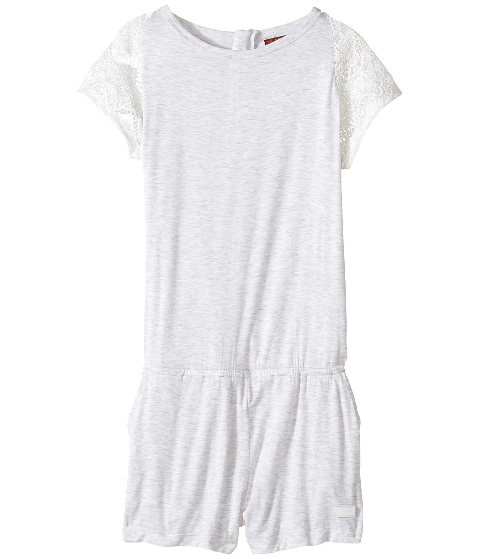 7 For All Mankind Kids - Romper with Lace Sleeve (Big Kids) (Heather Grey) Girl's Jumpsuit & Rompers One Piece