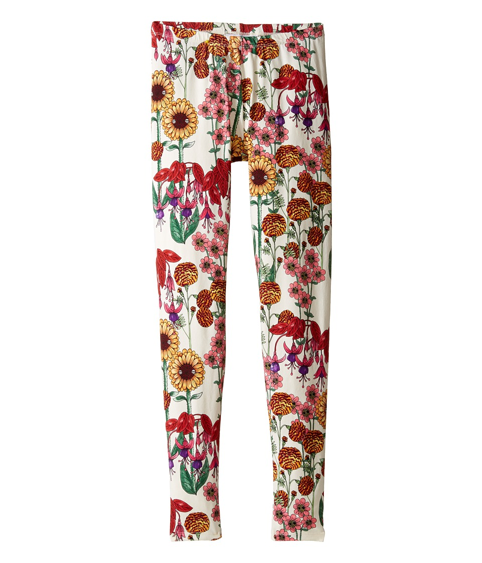 mini rodini - Garden Leggings (Infant/Toddler/Little Kids/Big Kids) (Off-White) Girl's Casual Pants