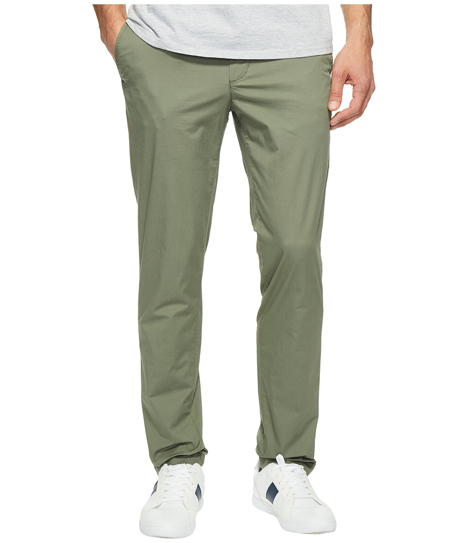 Lacoste - Slim Fit Stretch Cotton Twill Trousers (Army) Men's Casual Pants
