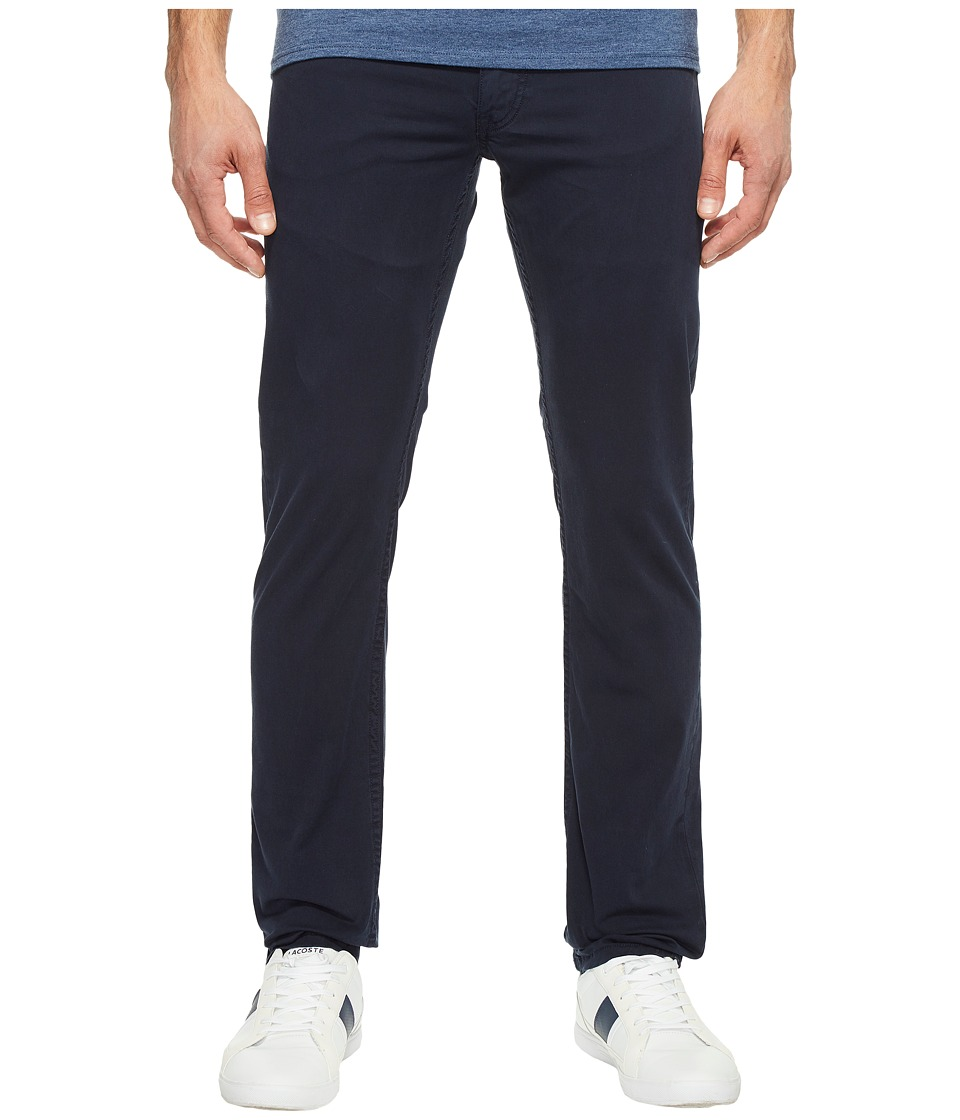 Lacoste - Cotton Twill Stretch Five-Pocket Slim Fit Trousers (Navy Blue Dyed) Men's Casual Pants