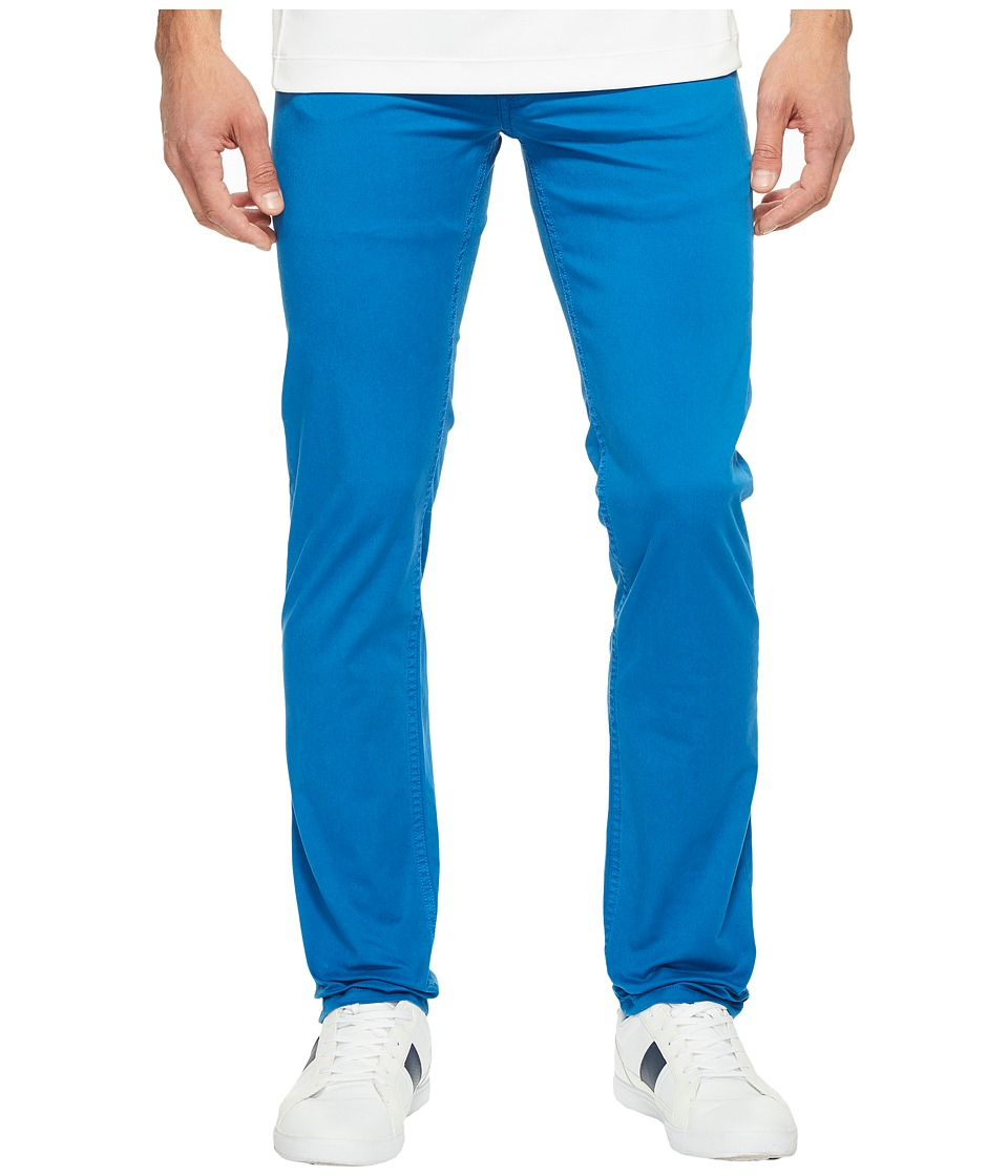 Lacoste - Cotton Twill Stretch Five-Pocket Slim Fit Trousers (Sapphire Blue Dyed) Men's Casual Pants