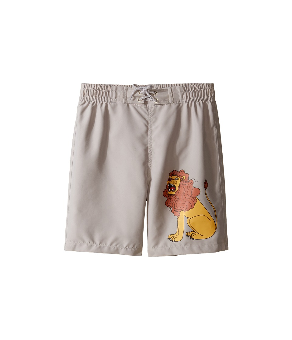 mini rodini - Lion Swimshorts (Infant/Toddler/Little Kids/Big Kids) (Light Grey) Boy's Swimwear