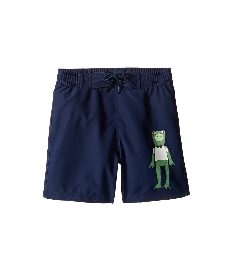 mini rodini - Frog Swimshorts (Infant/Toddler/Little Kids/Big Kids) (Navy) Boy's Swimwear