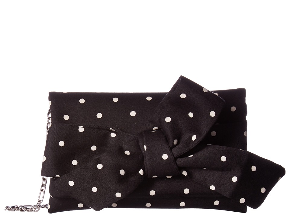 Oscar de la Renta - Petite Evening Bag (Black/White Polka Dot) Handbags