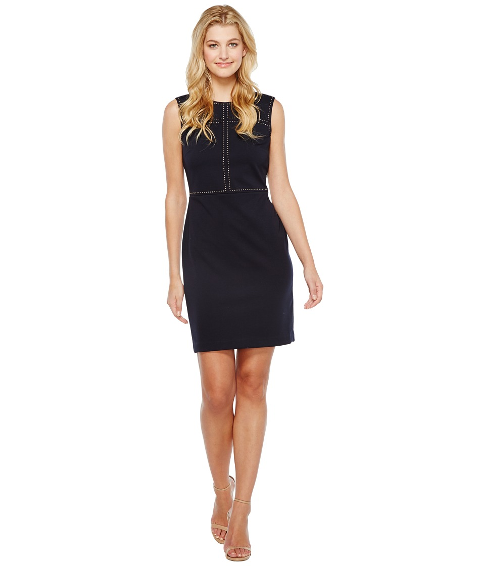 Ivanka Trump - Ponte Dress with Grommets (Navy) Women's Dress