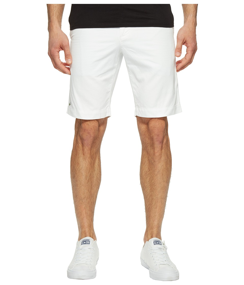 Lacoste - Slim Bermuda Shorts (White) Men's Shorts