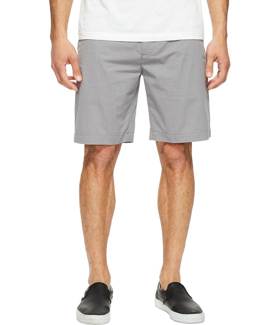 Lacoste - Seersucker Bermuda (Ashes Grey/White) Men's Shorts