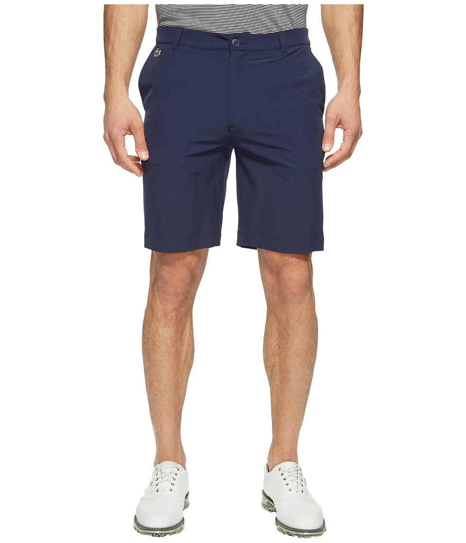 Lacoste - Golf Solid Stretch Bermuda (Navy Blue) Men's Shorts