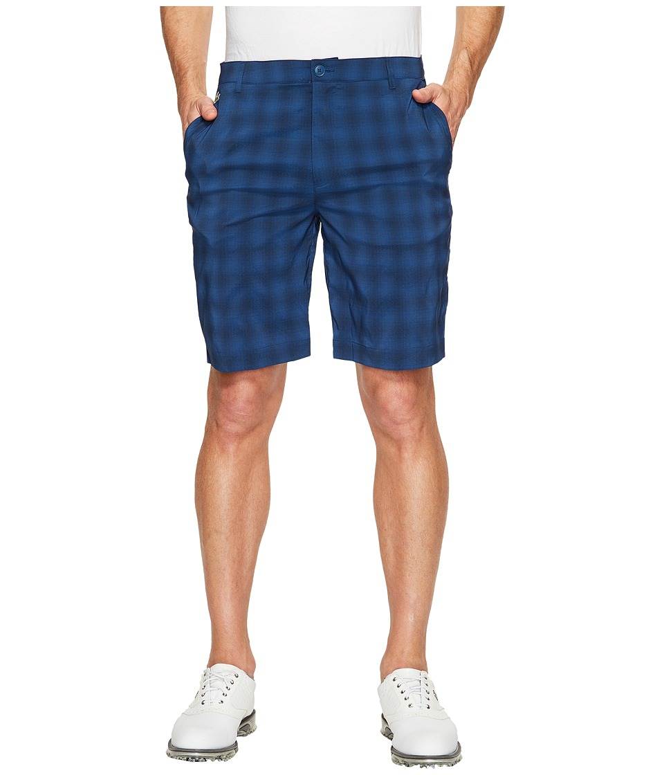 Lacoste - Golf Check Stretch Bermuda (Navy Blue/Cobalt) Men's Shorts