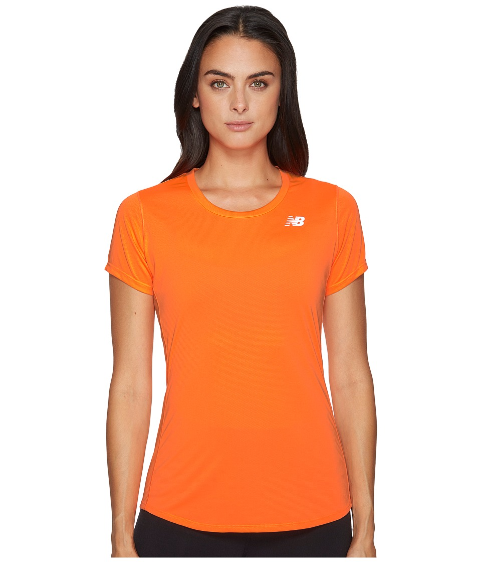 New Balance - Accelerate Short Sleeve (Vivid Tangerine) Women's Clothing