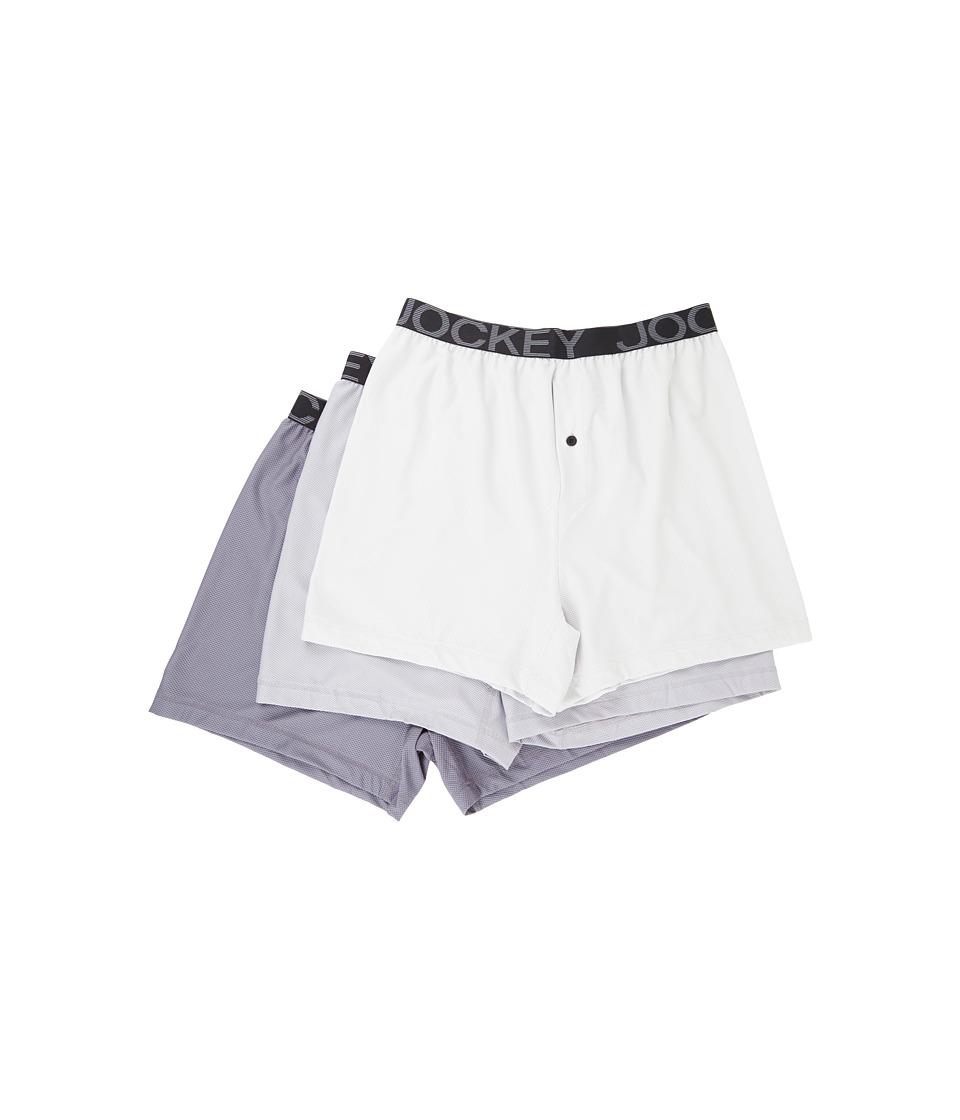 Jockey - Active Mesh Boxer (Sonic Grey/Mid Grey/Lantern Grey) Men's Underwear