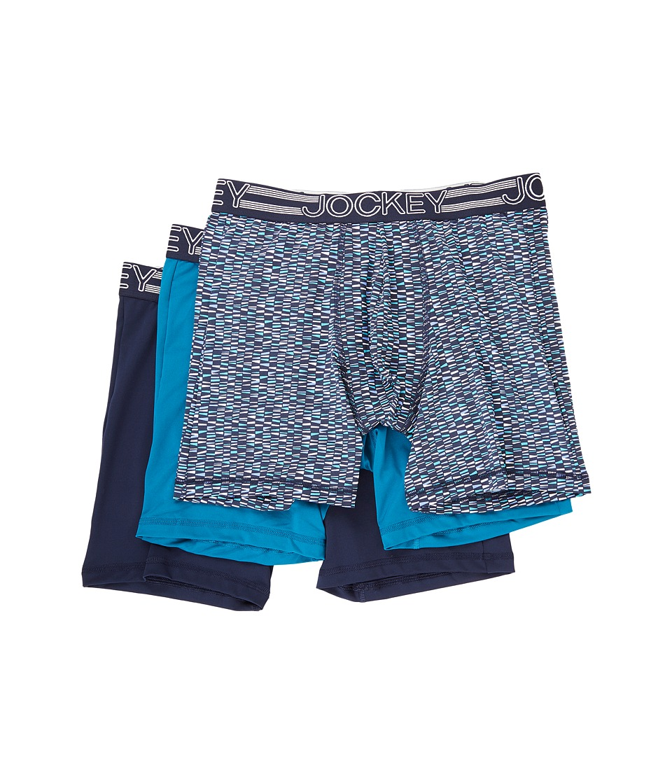 Jockey - Active Microfiber Midway (Multicolor/Peacock/True Navy) Men's Underwear