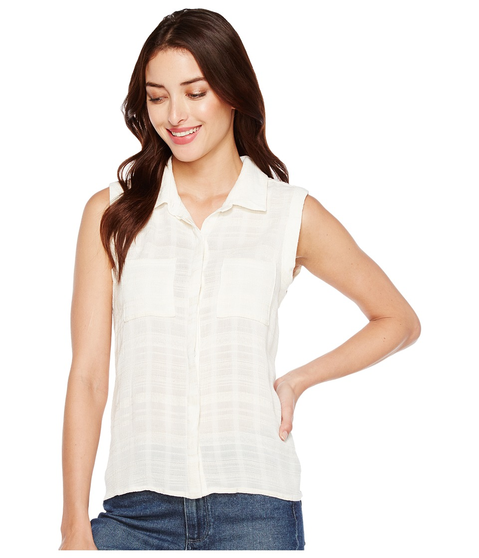 Splendid - Sandbar Stripe Button Up Blouse (Natural) Women's Sleeveless