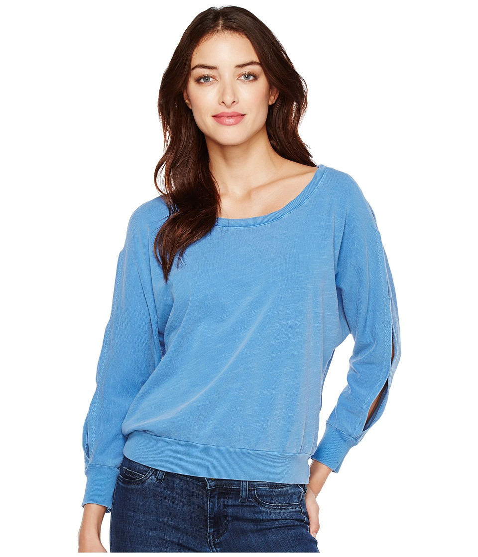 Splendid - Double Cut Out Pullover (Vintage Heritage Blue) Women's Long Sleeve Pullover