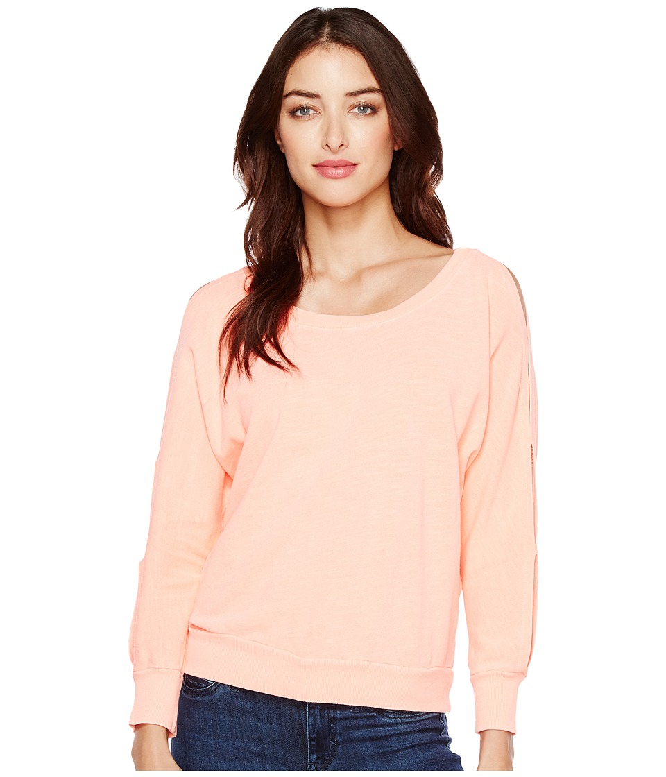 Splendid - Double Cut Out Pullover (Vintage Tropical Peach) Women's Long Sleeve Pullover