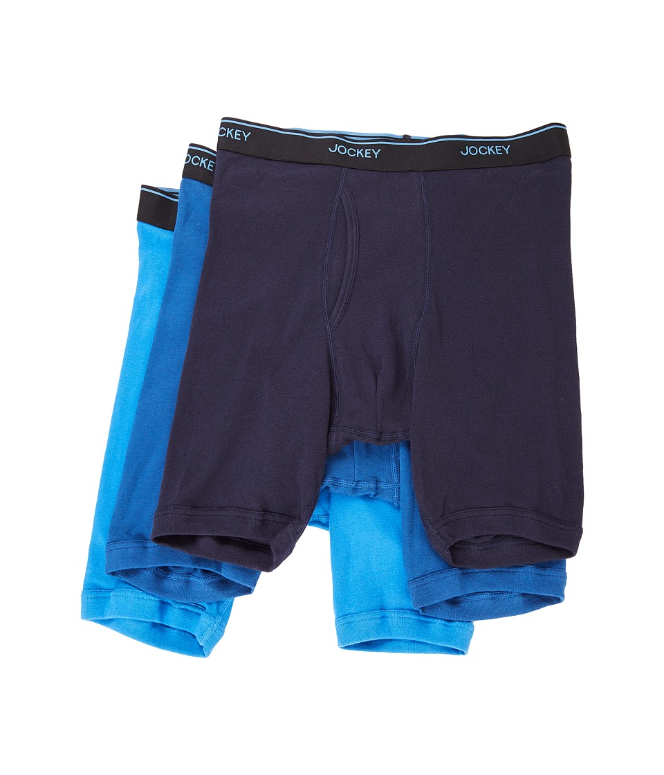 Jockey - Staycool Midway Brief (True Navy/Mimas Blue/Royal Blue) Men's Underwear