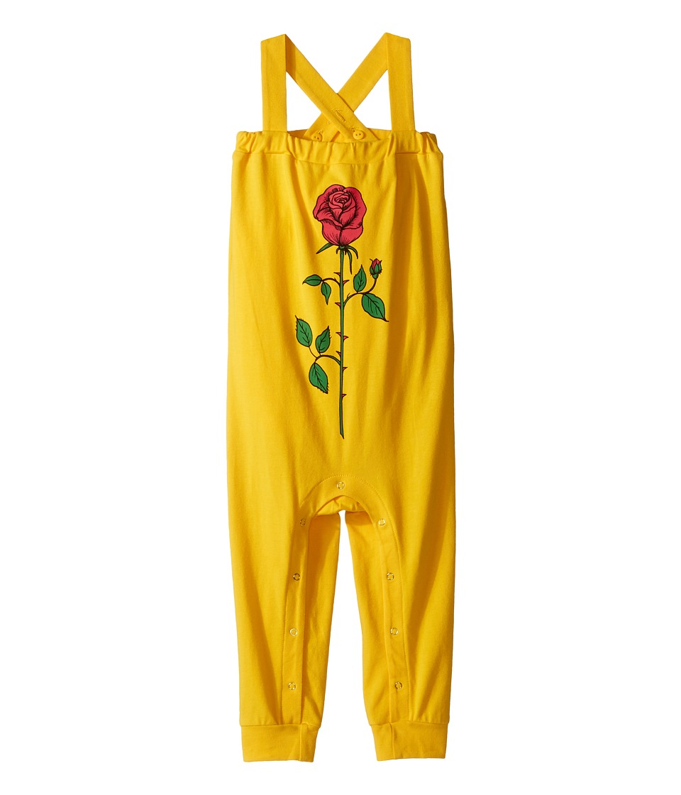 mini rodini - Rose Baby Brace (Infant) (Yellow) Girl's Jumpsuit & Rompers One Piece