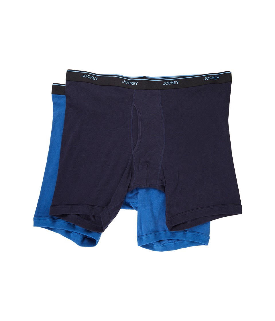 Jockey - Staycool Plus Big Man Midway Brief (True Navy/Mimas Blue) Men's Underwear