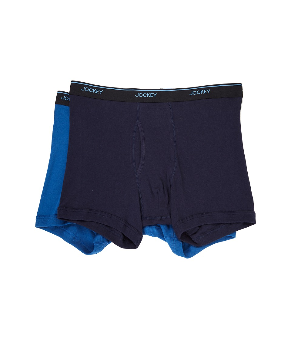 Jockey - Staycool Plus Big Man Boxer Brief (True Navy/Mimas Blue) Men's Underwear