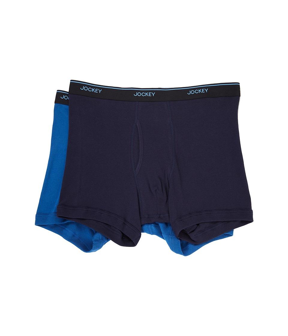 Jockey - Staycool Plus Big Man Boxer Brief (True Navy/Mimas Blue) Men's Underwear