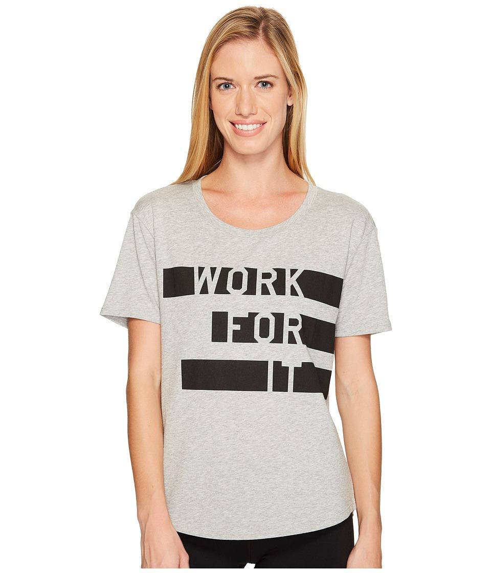 New Balance - Heather Tech Graphic Tee (Black/Purple) Women's Clothing