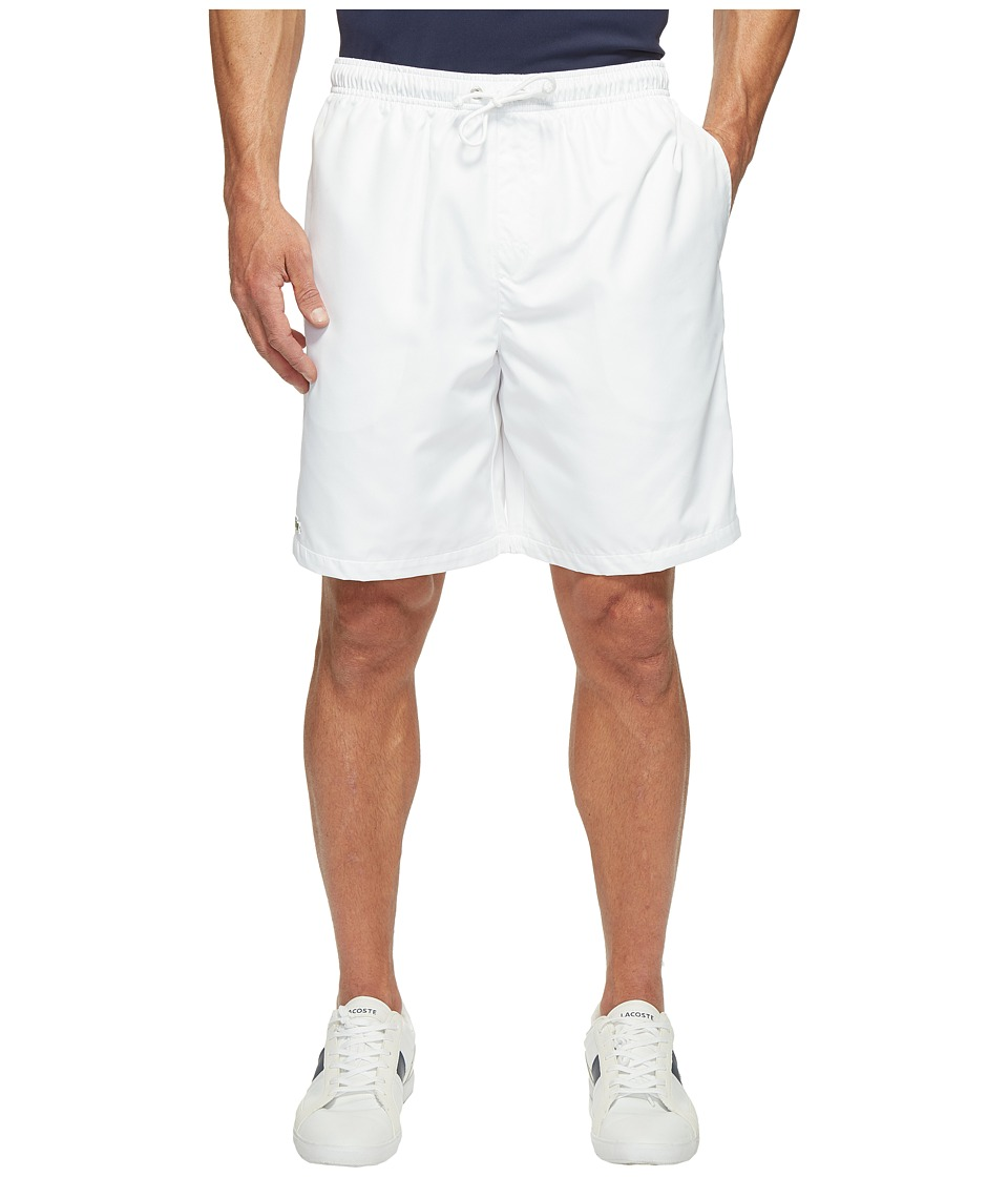 Lacoste - Sport Lined Tennis Shorts (White) Men's Shorts