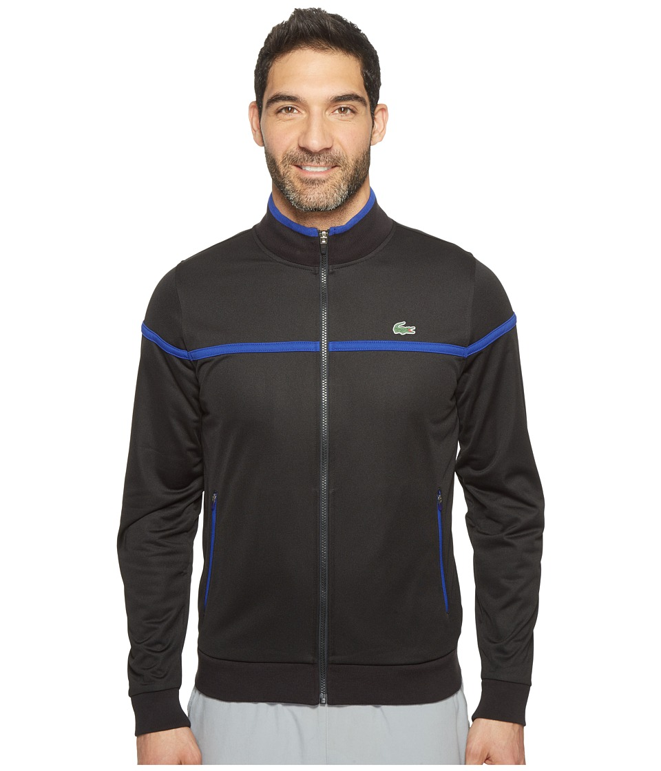 Lacoste - Sport Full Zip Track Jacket (Black/France) Men's Coat