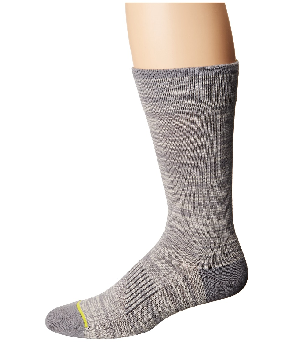 Cole Haan - ZeroGrand Random Feed Crew (Ironstone/Silver Cloud) Men's Crew Cut Socks Shoes