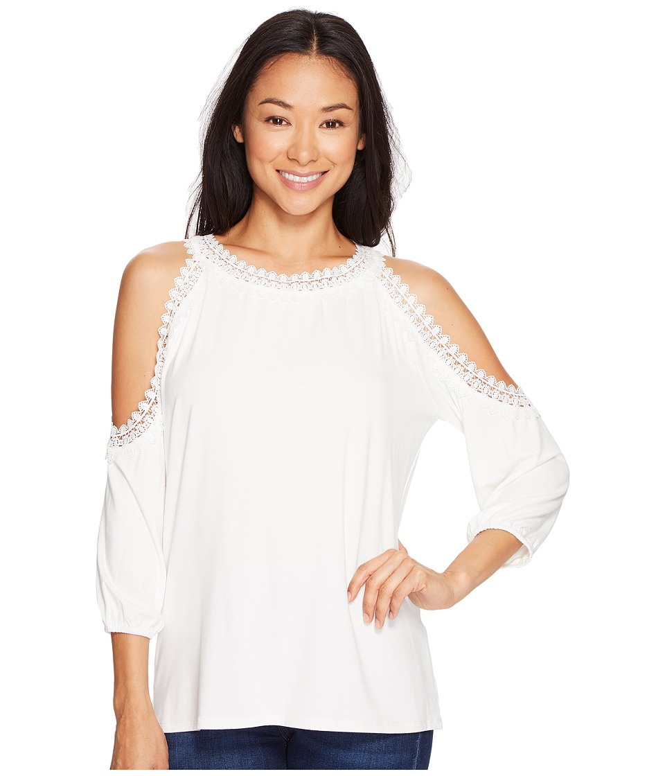 Ivanka Trump - Cold Shoulder Top (Ivory) Women's Long Sleeve Pullover