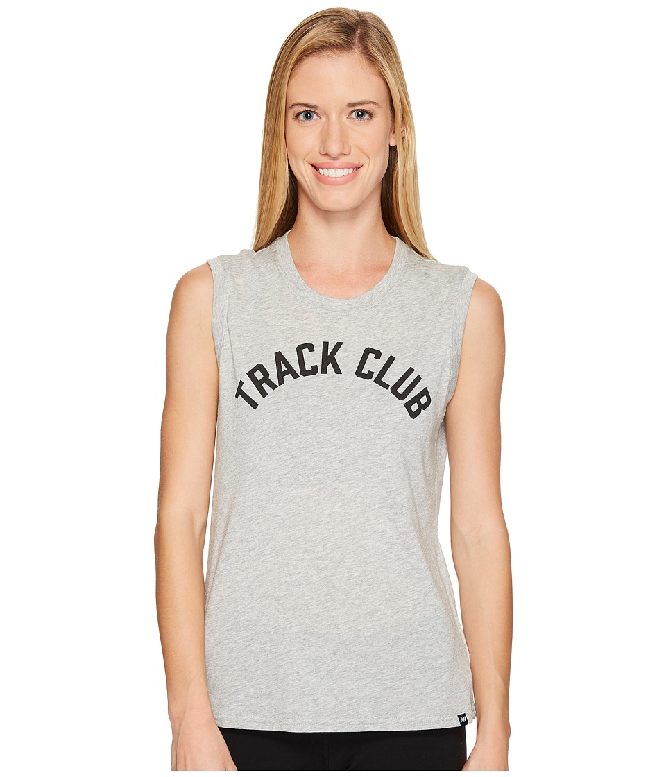 New Balance - Essentials Muscle Tank Top (Athletic Grey) Women's Sleeveless